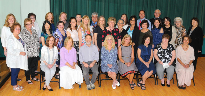 Above, all Great Neck Public Schools teachers retiring after the 2017-2018 school year (Photo via The Island Now)