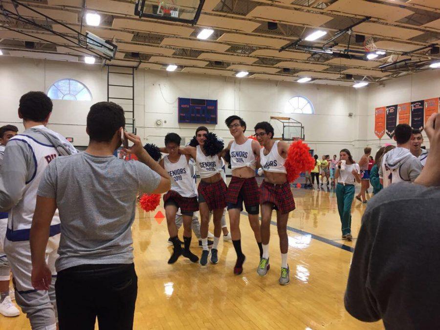Seniors showcase football, and cheerleading, talent in 2018 Powderpuff