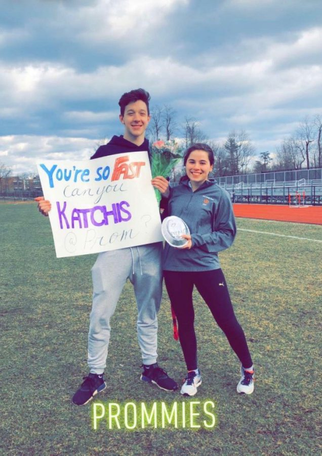 Jordan+Peiser+and+his+date+Chloe+Katchis+are+a+classic+example+of+a+typical+promposal.+The+extravagant+way+to+ask+someone+to+prom+has+become+a+norm+at+Great+Neck+North.+Claire+Pan+asks%2C+%22Is+it+all+too+much%3F%22