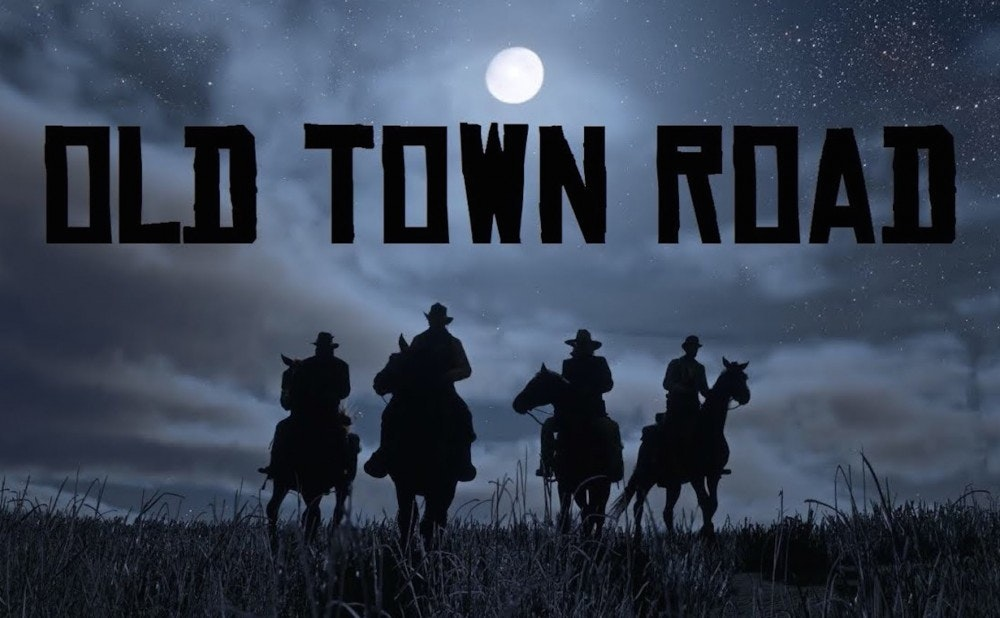 Art created by the Old Town Road following. The song's video on YouTube incorporated visuals from Red Dead Redemption 2, cementing its semi-comedic, country trap style. [Image Credit: YouTube]