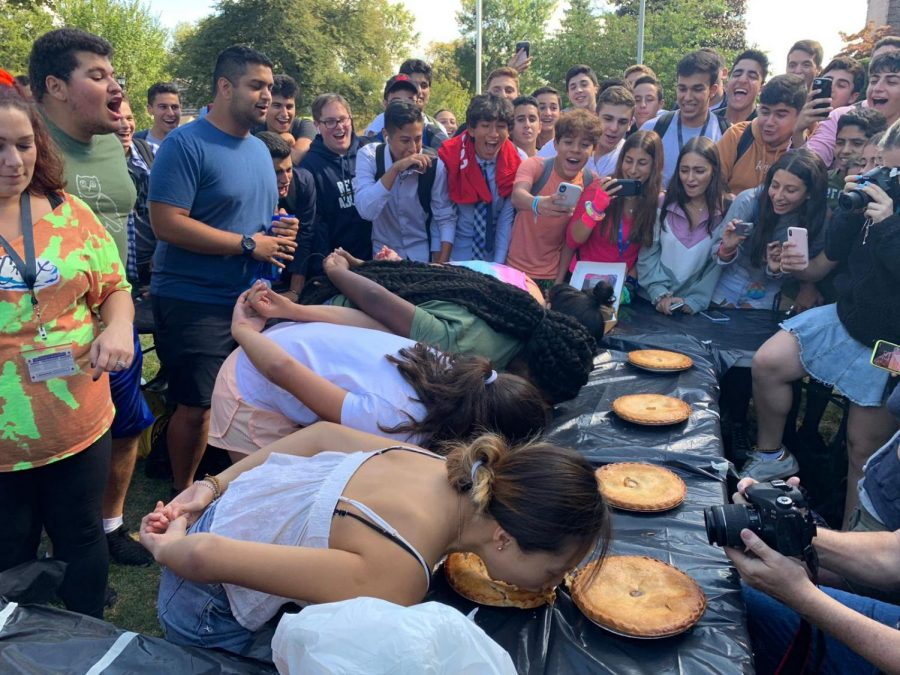 Class of 2020 Takes Pie Eating: Spirit Week 2019