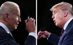 Joe Biden and Donald Trump argue during the first presidential debate. (Credit: Washington Post)