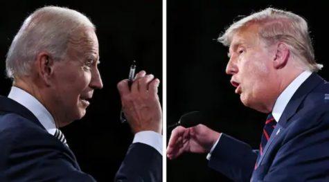 Joe Biden and Donald Trump argue during the first presidential debate. (Credit: Washington Post)