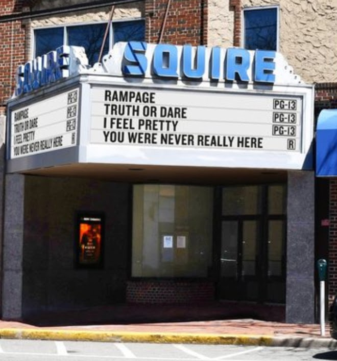 Squire Theater open during its better days. (Credit: Mapquest.com)