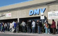 The long lines to get in the DMV. Entry is based off of the time of one's appointment listed on their ticket. (Source: newsday.com)