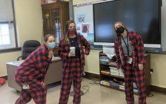Social Studies teachers wearing their matching Pajamas.
