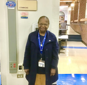 Ms. Moody pictured in the North High commons.